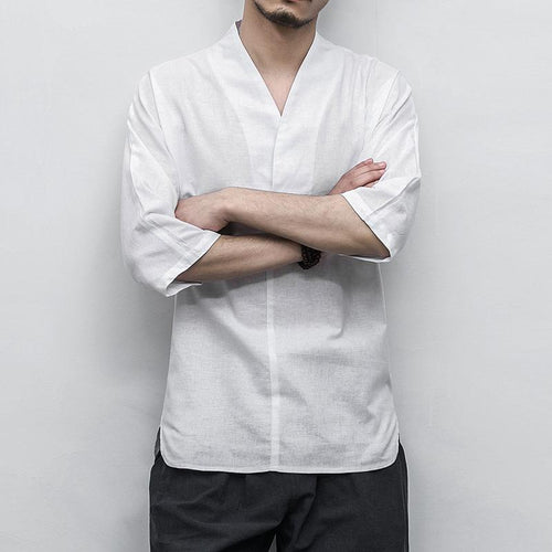 Casual Men's  Taoism Linen Shirt