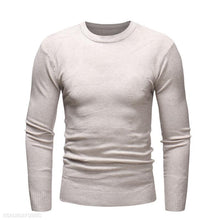 Load image into Gallery viewer, Casual Mens Round Collar Plain Thin Sweater