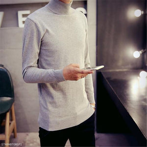 Fashion Mens Casual Slim Plain Long Sleeve Men Sweaters