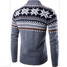 Load image into Gallery viewer, Fashion Mens Casual Slim Floral Round Neck Long Sleeve Men Sweater