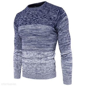 Fashion Mens Sport Loose Color Block Sweater