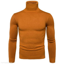 Load image into Gallery viewer, Fashion Mens Slim Plain High Collar Long Sleeve Sweater