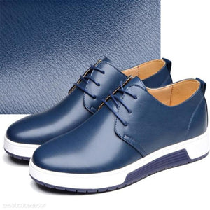 Fashion Business Casual Plain Leather Mens Shoes