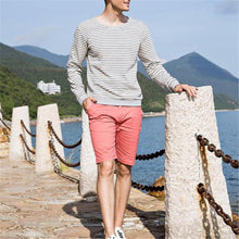 Load image into Gallery viewer, Fashion Mens Sport Casual Loose Strip Long Sleeve Shirts