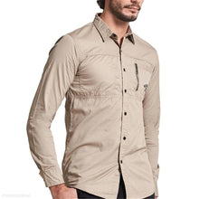 Load image into Gallery viewer, Fashion Mens Casual Plain Long Sleeve Shirt Top