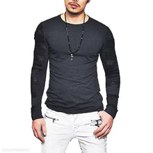Load image into Gallery viewer, Casual Mens Round Collar Slim Fit Transparent Shirt