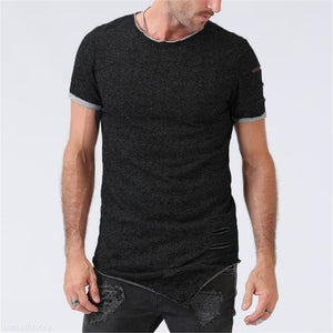 Fashion Mens Casual Sport Slim Plain Short Sleeve Shirts Top