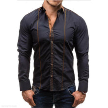 Load image into Gallery viewer, Fashion Mens Business Slim Plain Button Long Sleeve Shirt Top