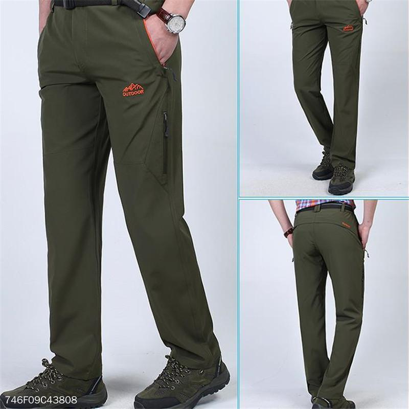 Fashion Mens Casual Business Plain Long Pants