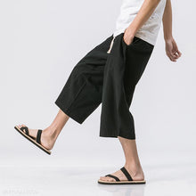 Load image into Gallery viewer, Casual Mens Loose Wide Leg  Plain Pants