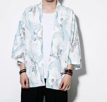 Load image into Gallery viewer, Fashion Mens Vacation Casual Ethnic Style Loose Floral Short Sleeve Cardigan Outerwear