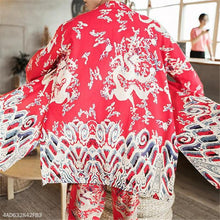 Load image into Gallery viewer, Fashion Mens Chinese Style Loose Floral Long Sleeve Cardigan Outerwear