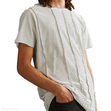 Load image into Gallery viewer, Fashion Mens Round Collar Stripe Shirt
