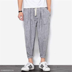 Fashion Mens Casual Sport Loose Plain Harem Pants