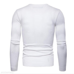 Fashion Mens Slim Plain Long Sleeve Sweater