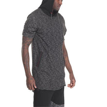 Load image into Gallery viewer, Fashion Mens Sport Loose Color Block Short Sleeve Hoodie
