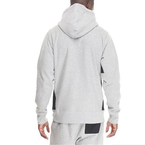 Fashion Mens Casual Sport Loose Plain Long Sleeve Hoodie
