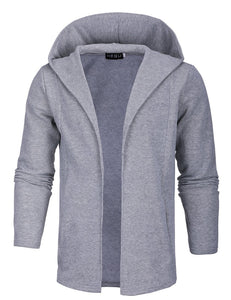 Casual Loose Plain Zipper Coat