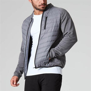 Fashion Mens Youth Casual Thermal Plain Zipper Long Sleeve Coat Outerwear