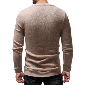 Fashion Mens  Casual Soft Thermal Embroidery  Sweater
