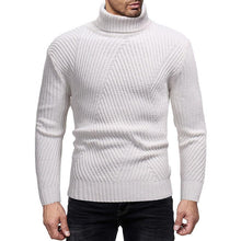 Load image into Gallery viewer, Fashion Mens Solid Color Turtleneck Sweater