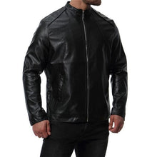 Load image into Gallery viewer, Chic Casual Slim Plain Leather Zipper Mens Jacket Outerwear