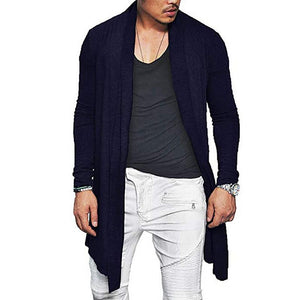 Fashion Mens Solid Color Casual Cardigans Shirts