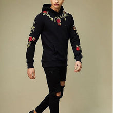 Load image into Gallery viewer, Fashion Mens Floral Embroidery Hoodie