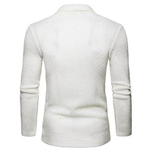 Casual Fashion Youth Slim Plain Long Sleeve Knitting Outerwear