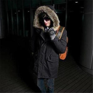 Casual Fashion Thermal Slim Plain Long Sleeve Mens Coat Outerwear