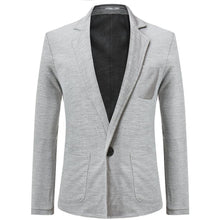 Load image into Gallery viewer, Fashion Plain Business One Button Suit Coat
