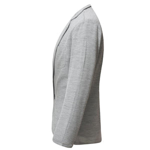 Fashion Plain Business One Button Suit Coat