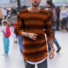 Load image into Gallery viewer, Fashion Mens Stripe Gradient Ramp Knit Sweater