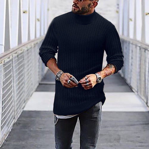 Fasion Stylish Mens Solid Color Sweater