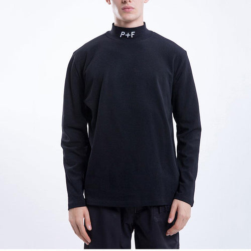 Fashion Mens High Collar Letter Printed Slim Shirt