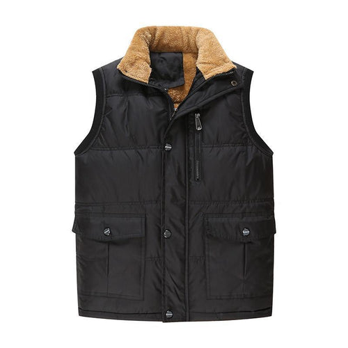 Men's Vest Plus Velvet Down Cotton Vest