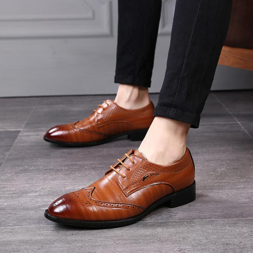 Fashion Mens Pointed Head Strappy Split Joint Shoes
