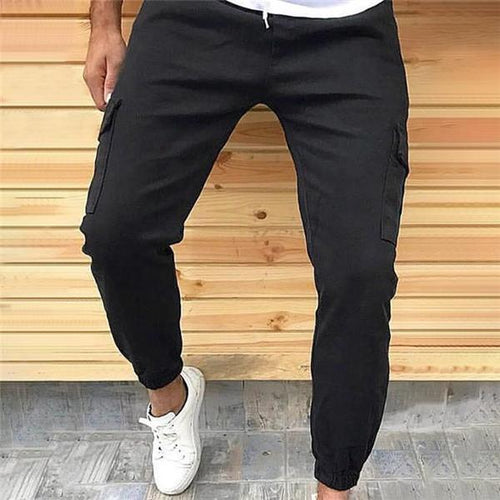 Men's Casual Fashion Loose Solid Color Sport Pants