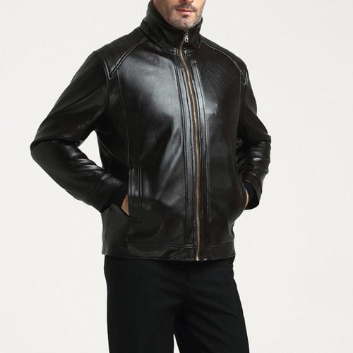 Middle-Aged Leather Mens Fur One Plus Velvet Thick Leather