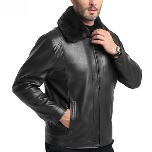 Mens Business PU Leather   Jacket