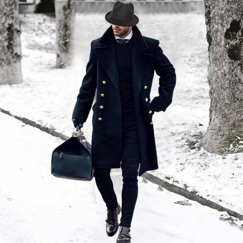 Fashion Mens British Style  Coat