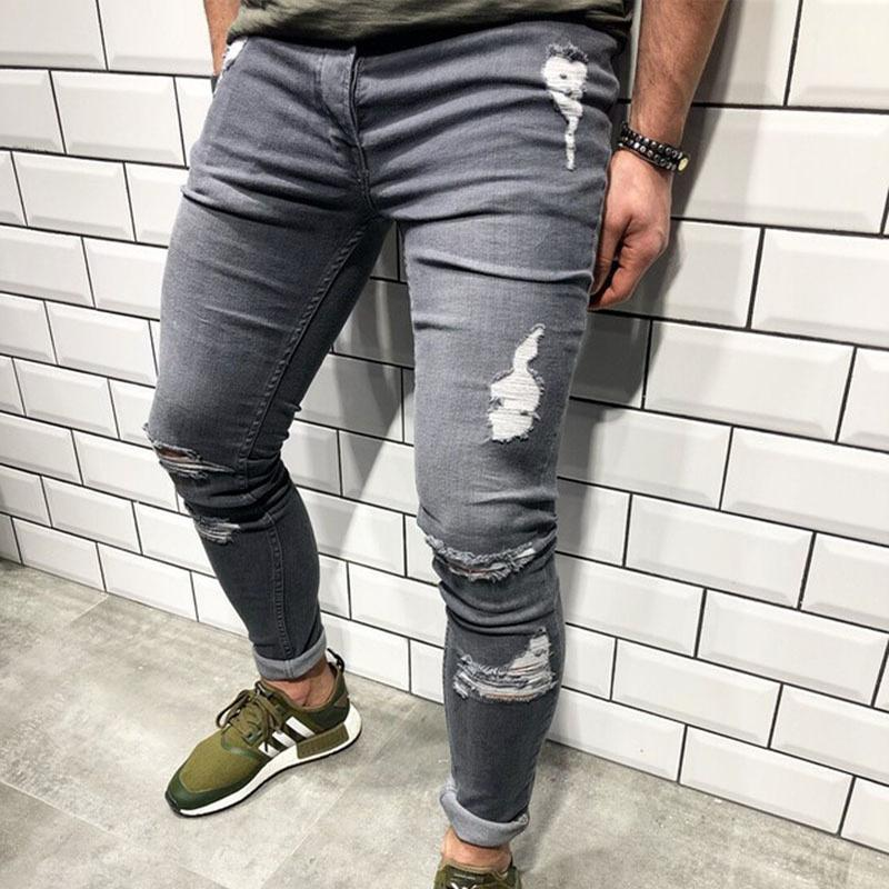 Men's Broken Feet Jeans Stretch Jeans