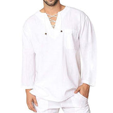 Load image into Gallery viewer, Corns Tied With Cotton And Linen Men's Shirts