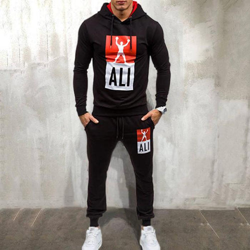 Men's Sports Suit Hooded Set