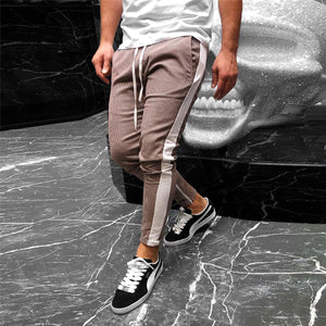 Fashion Check Printed Strawstring Slim  Pencil Pants