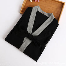 Load image into Gallery viewer, Fashion Mens Loose Soft Color Block Bathrobe Shirts Top