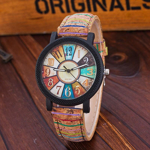 Vintage Leather Quartz Watch Woman's Watch