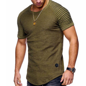 Fashion Men's Casual Plain Round Neck Short Sleeve Top Shirts