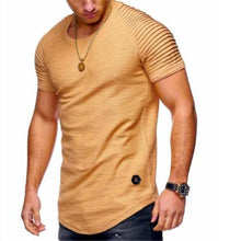 Load image into Gallery viewer, Fashion Men's Casual Plain Round Neck Short Sleeve Top Shirts