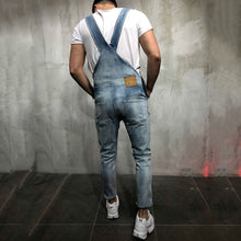 Load image into Gallery viewer, Denim Suspenders Jumpsuit Pants